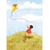 "Tableau ""Belle and Boo Fly a Kite"" (31x39cm)"